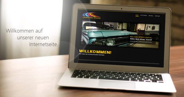 Lackmeister Grenner - Neue Internetseite